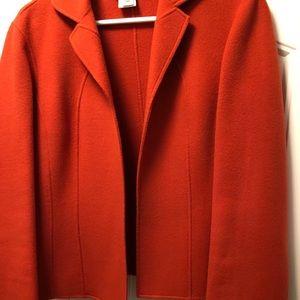 Talbots boiled wool short jacket